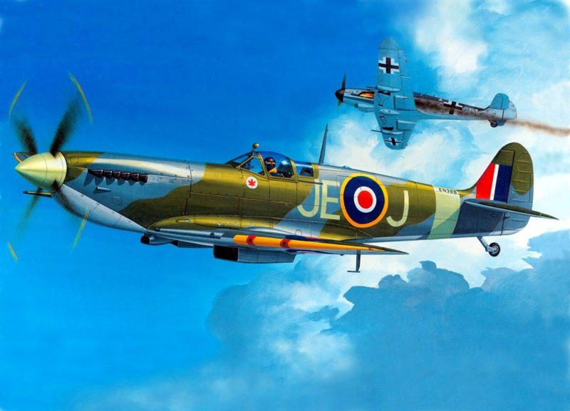 Johnson Johnnie. Истребитель Spitfire Mk.IX.