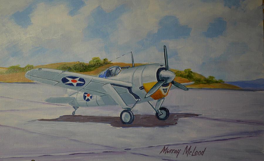 McLeod Murray. Истребитель Brewster Buffalo.