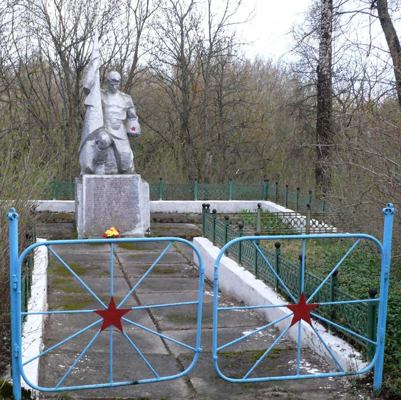 с. Новоселки, Чернобыльская зона отчуждения. Братская могила воинов 6-й гвардейской стрелковой дивизии, погибшие 10-12 ноября 1943 г.