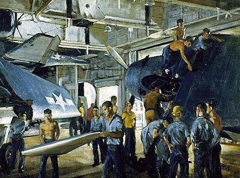 Draper William. Ангар авианосца.