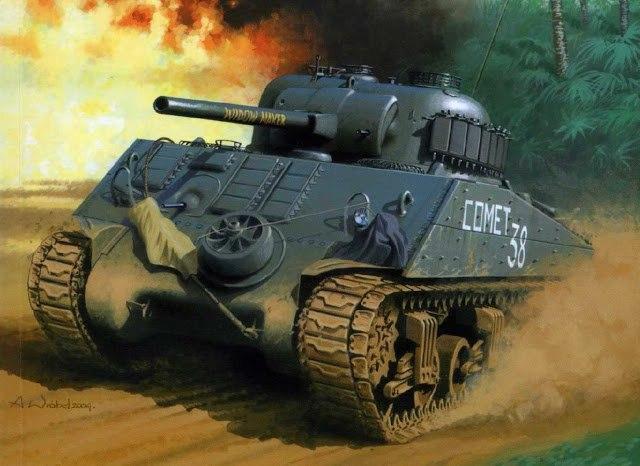 Wróbel Arkadiusz. Танк Sherman «Widow Maker» (Вдоводел).