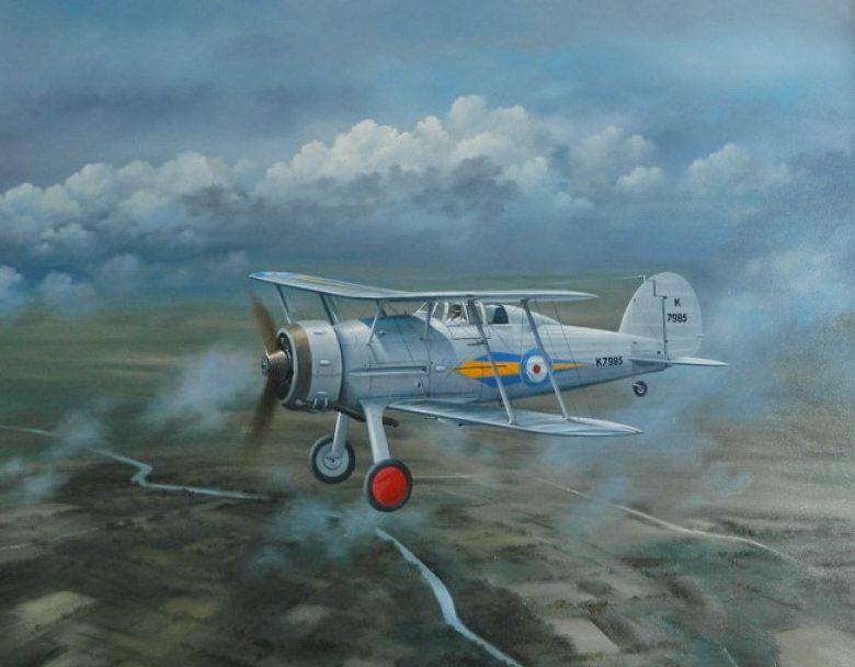 Jones John. Истребитель Gloster Gladiator Mk.1.