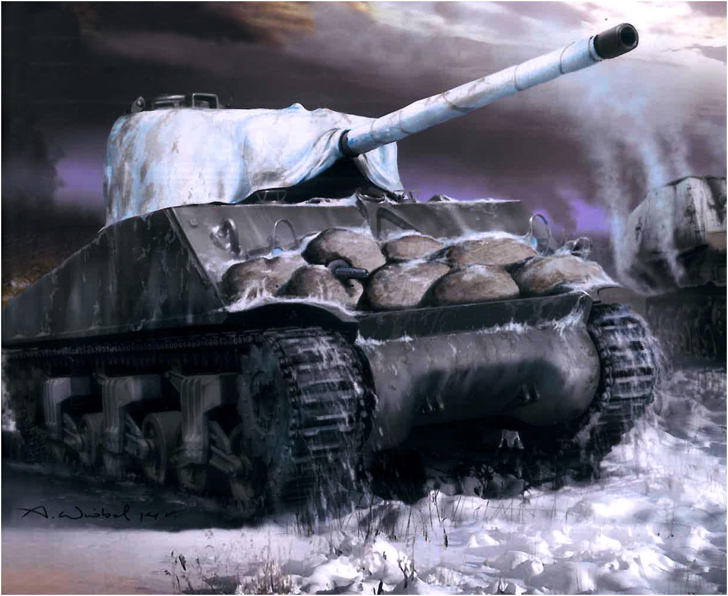 Wróbel Arkadiusz. Танк M-4A3 Sherman.