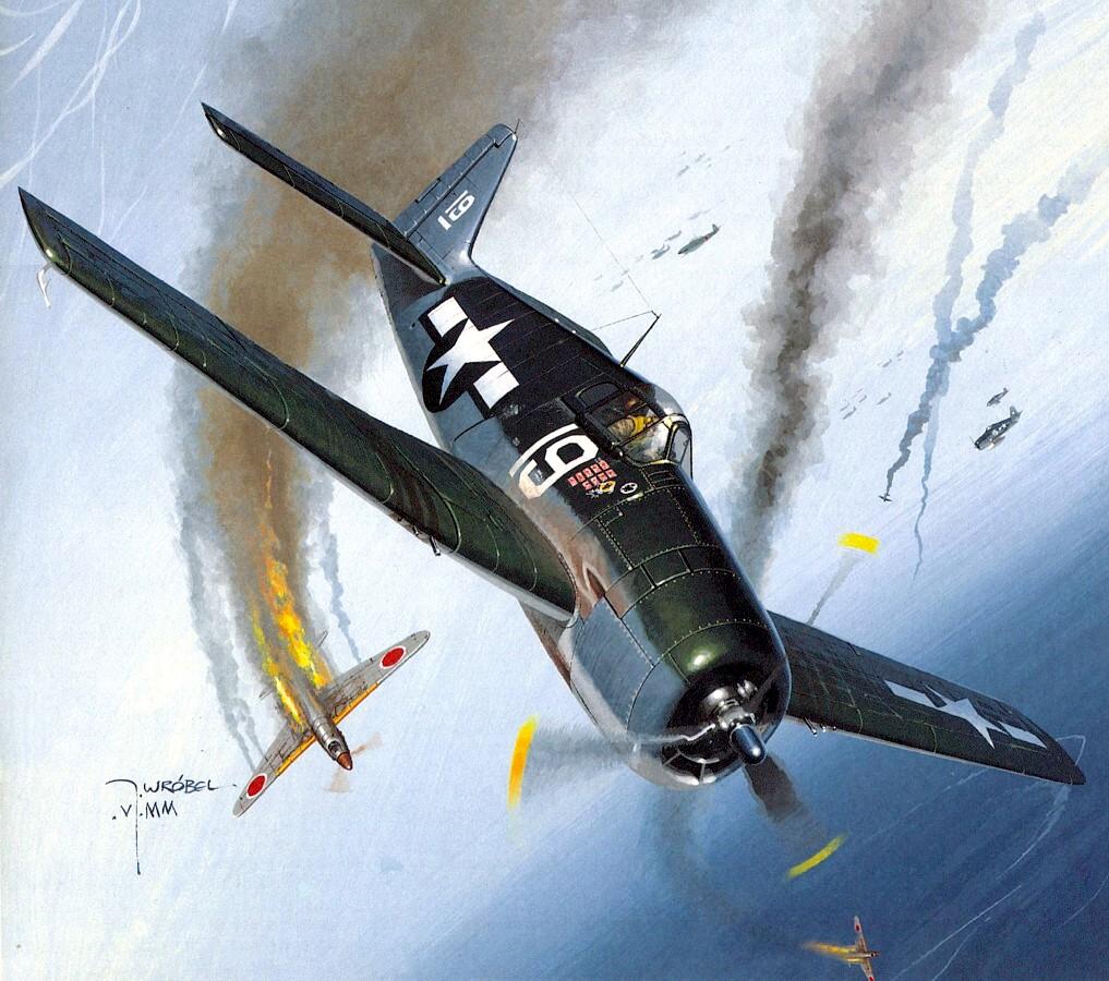 Wrobel Jaroslaw. Истребитель F6F-3 Hellcat.