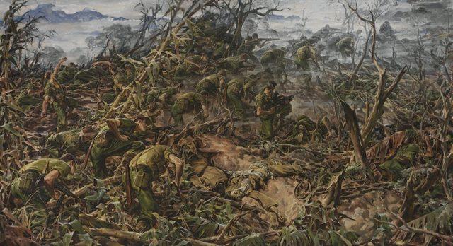 Hele Ivor. Атака пехотного батальона.