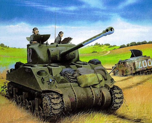 Wróbel Arkadiusz. Танк M-4A4 Sherman.