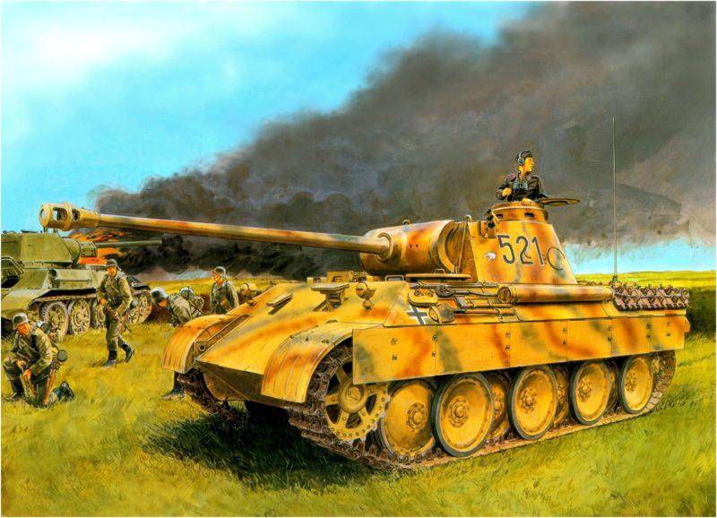 Volstad Ronald. Танк Panther Ausf D. Курск, 1943 г., дивизия «Великая Германия».