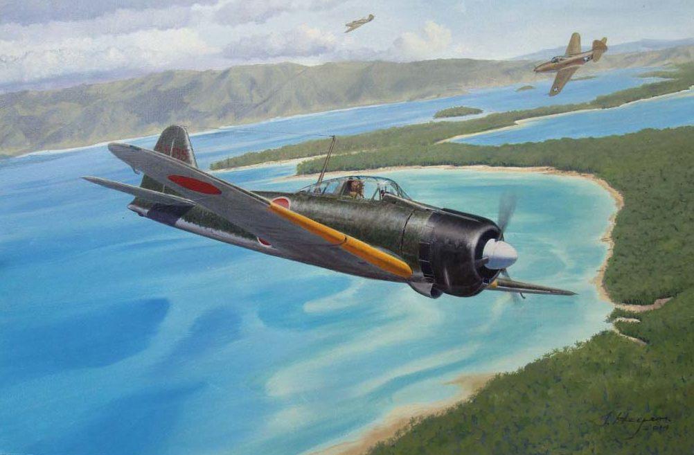 Heyen Steven. Истребитель Mitsubishi A-6M2s.
