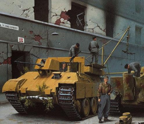 Wróbel Arkadiusz. БРЭМ на ремонте танка.