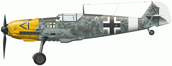 Tullis Tom. Истребитель Bf-109 E-3.