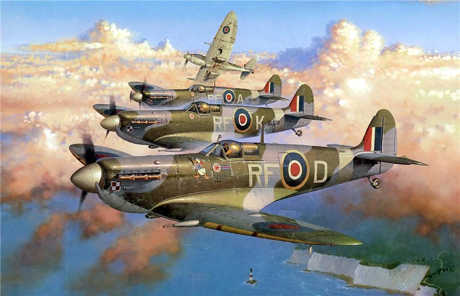 Wrobel Jaroslaw. Истребители Spitfire Mk.Vb.