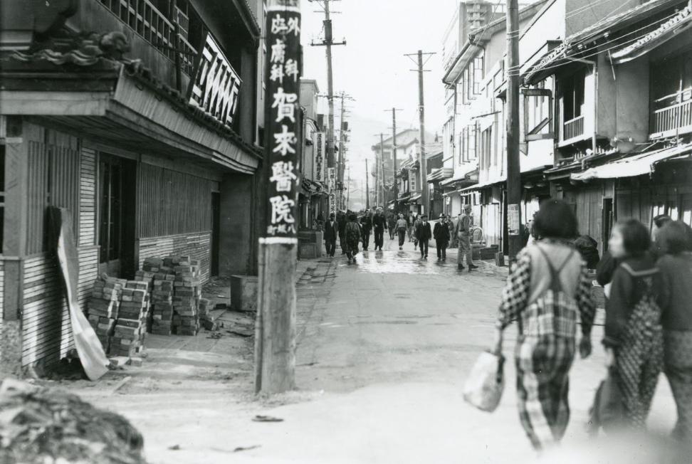Улица Нагасаки до бомбардировки. Май 1945 г.