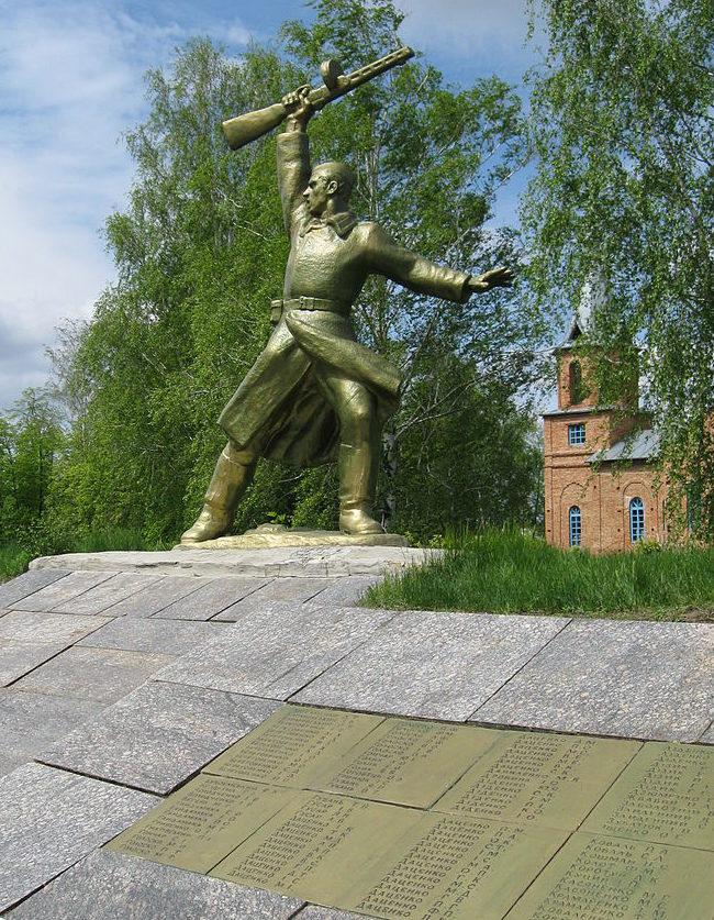с. Калиновое Таращанского р-на. Памятник односельчанам, погибшим в годы войны.