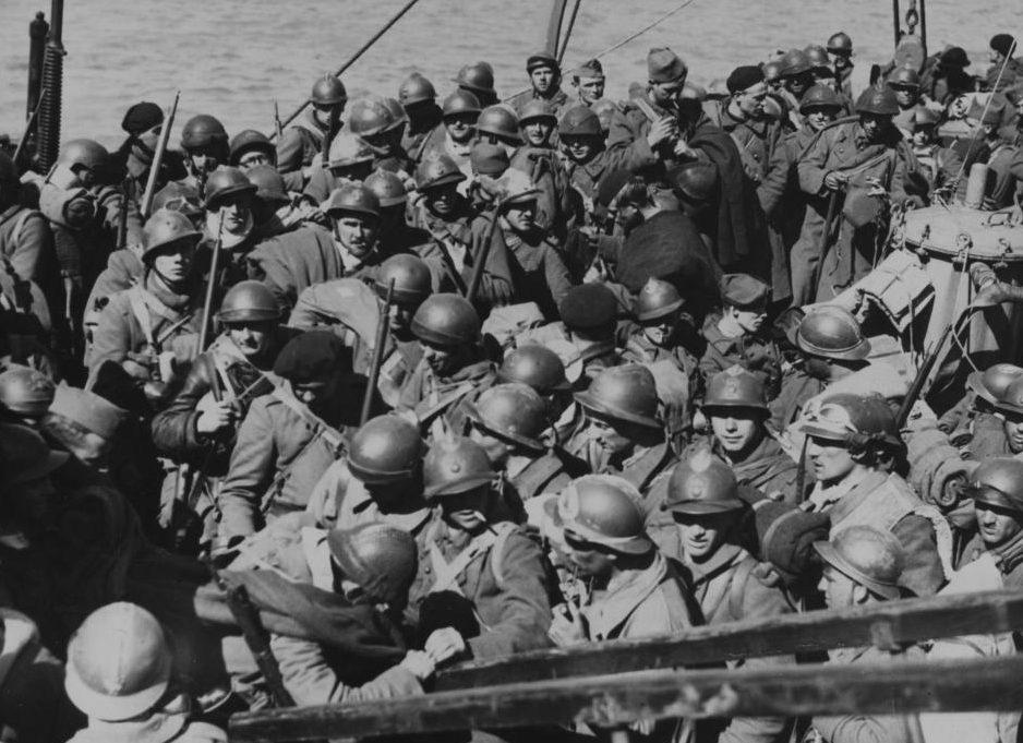 Британские войска на пути домой. 28 мая 1940 г.