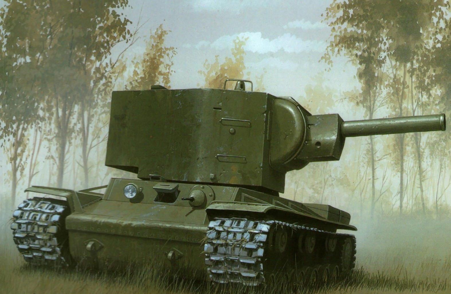 Wróbel Arkadiusz. Тяжелый танк КВ-2.
