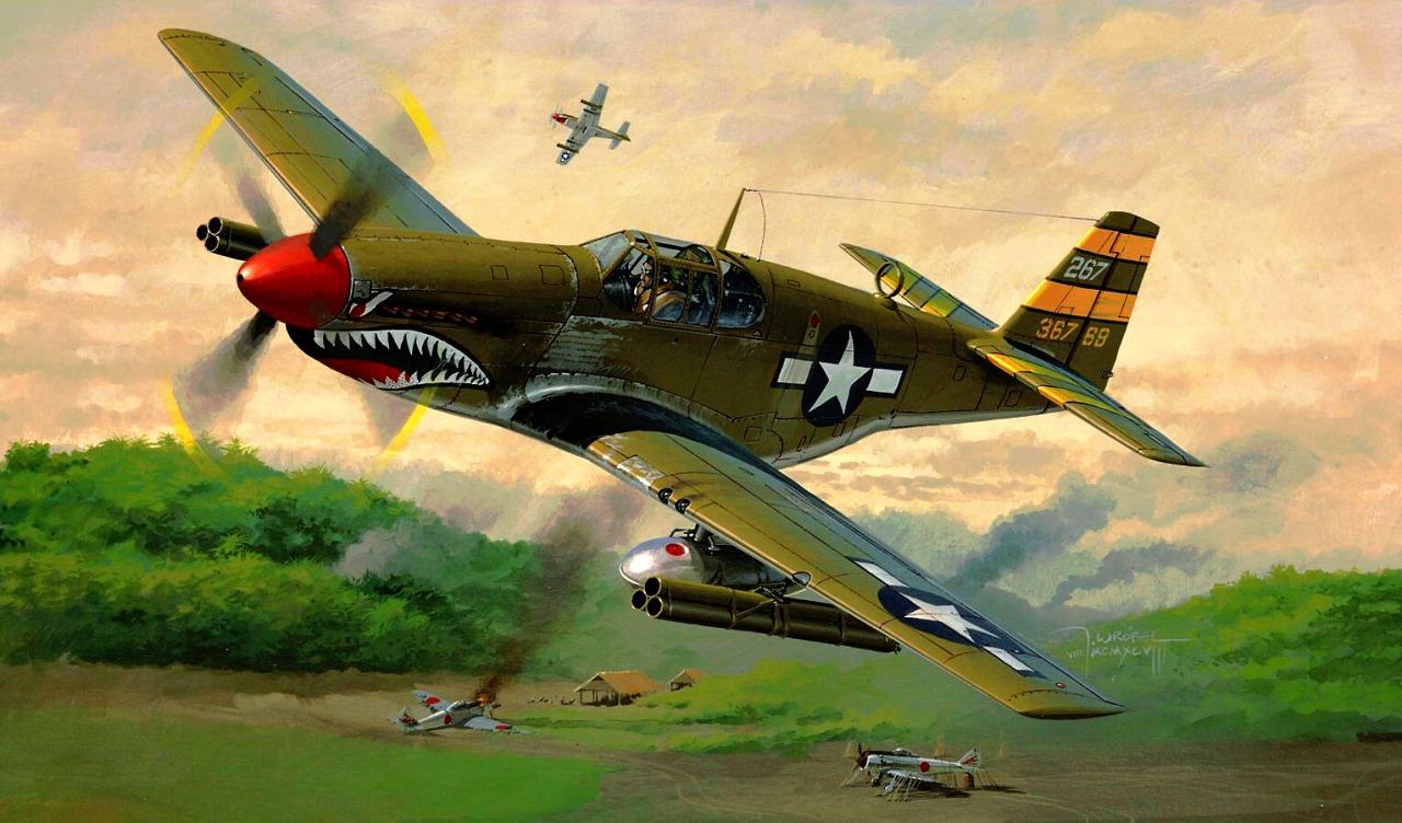 Wrobel Jaroslaw. Истребитель P-51B Mustang.