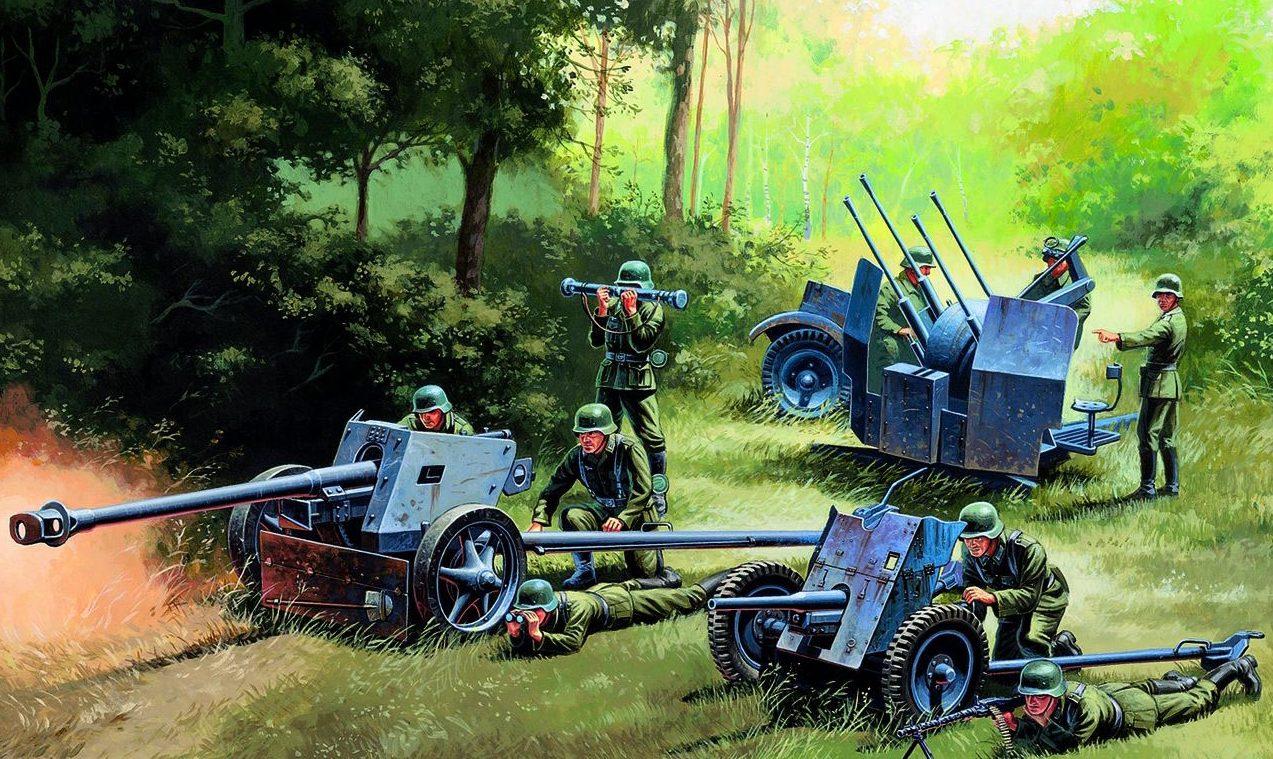 Deredos Andrzej. Немецкая артиллерия.