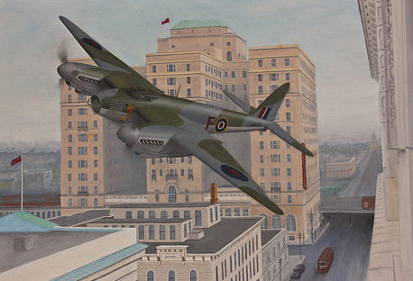Botting Allan. Истребитель Havilland Mosquito Mark IX.