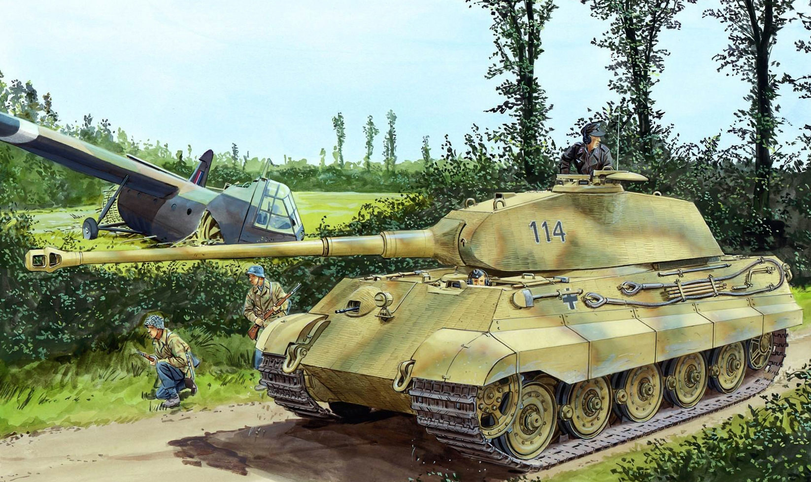 Volstad Ronald. Танк Panzer VI Ausf. B.