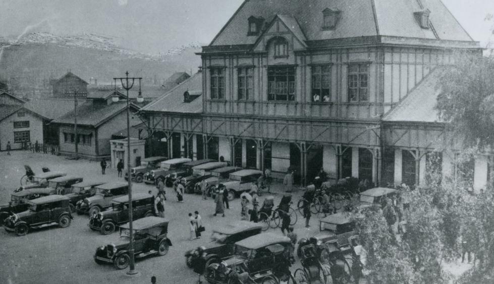 Стадион в Нагасаки. 1945 г.