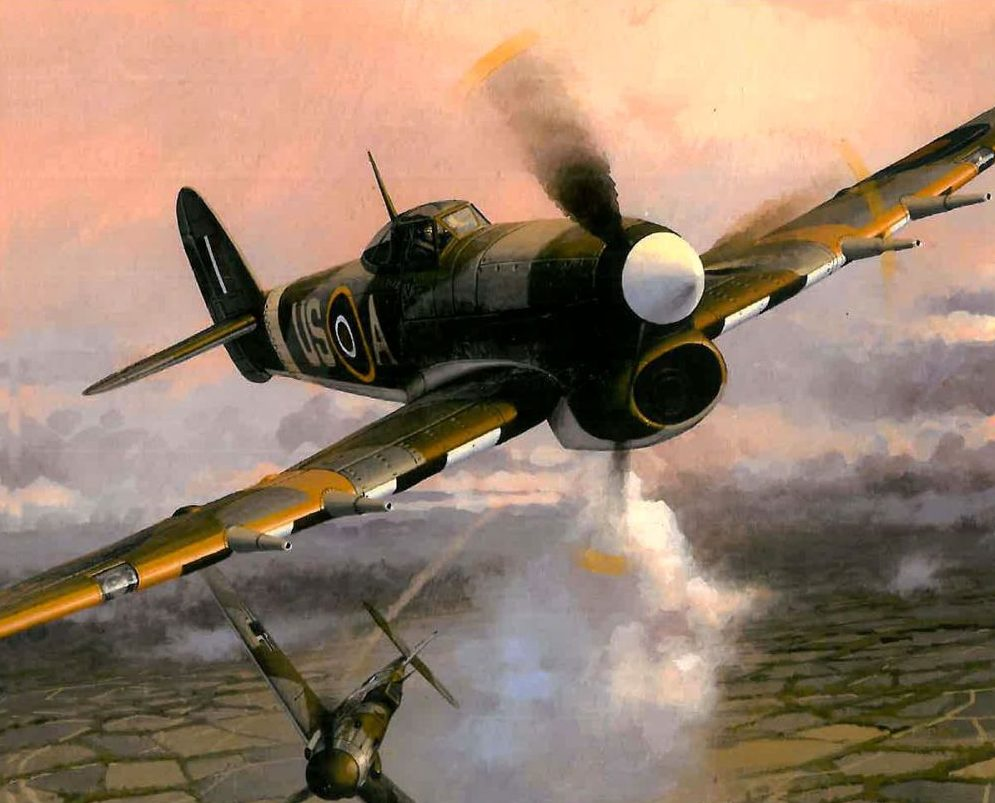 Wrobel Jaroslaw. Истребитель Hawker Typhoon.