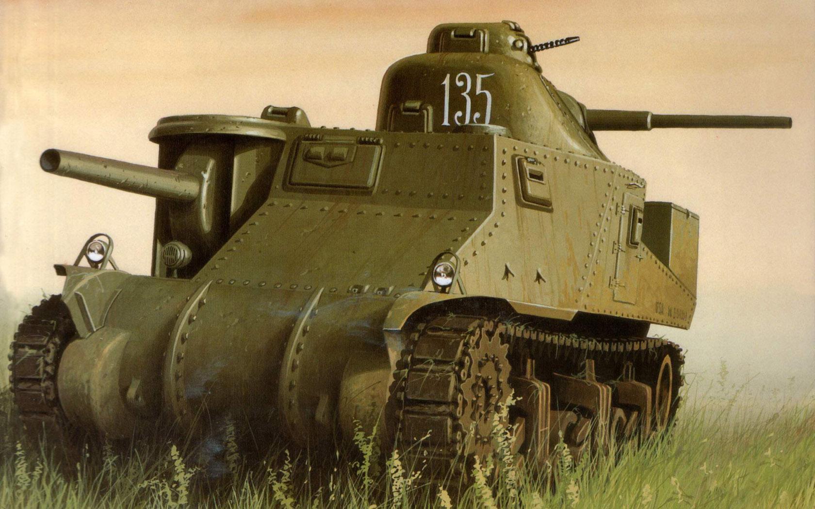 Wróbel Arkadiusz. Танк М-2 Lee.