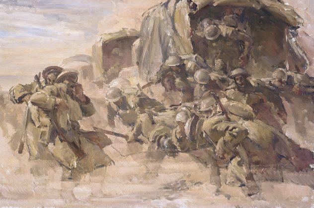 Hele Ivor. Войска в пустыне Ливии.