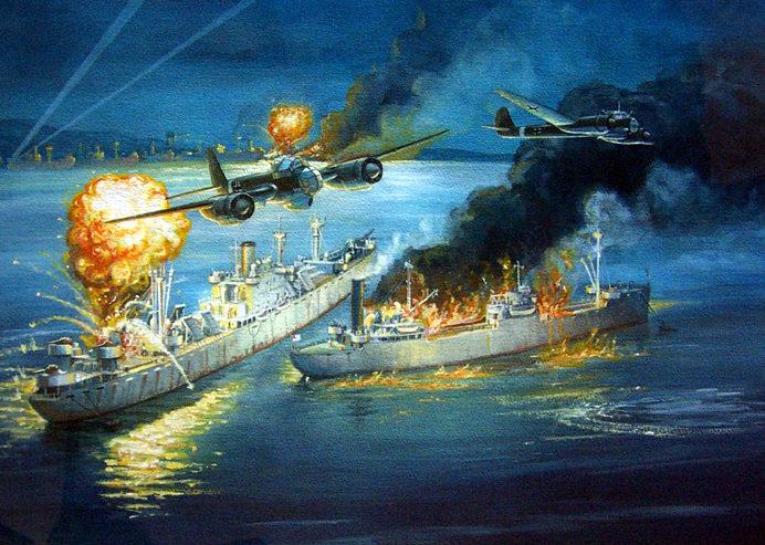 Bender Paul. Атака бомбардировщиков JU-88.