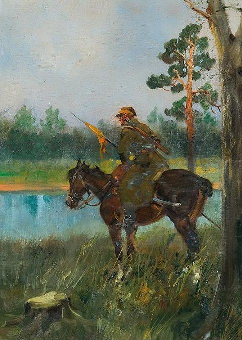 Kossak Jerzy. Уланы.