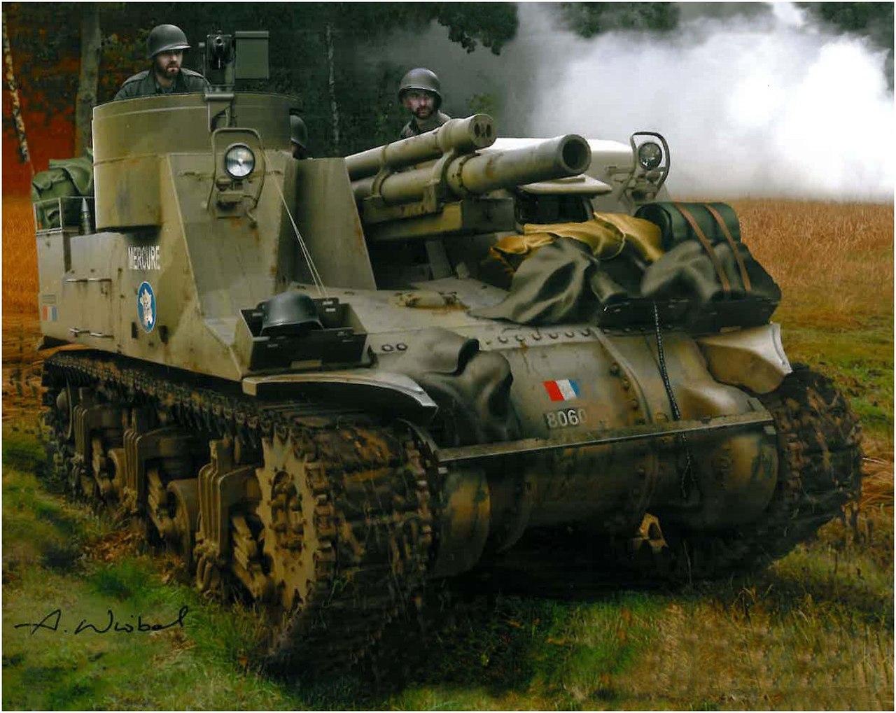 Wróbel Arkadiusz. Танк M-7 Priest.