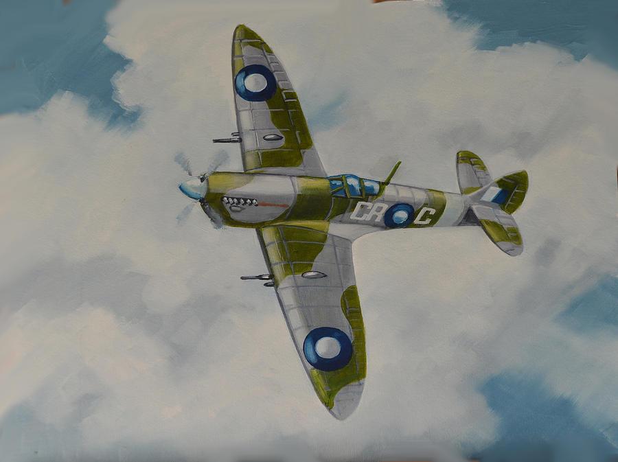 McLeod Murray. Истребитель Spitfire Mk.VIII.