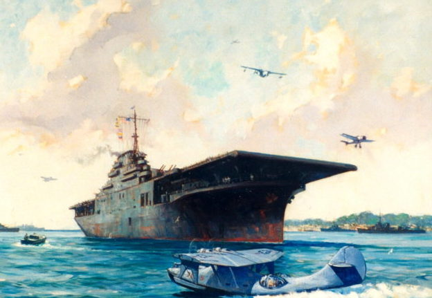 Grant Gordon. Авианосец «Saratoga».