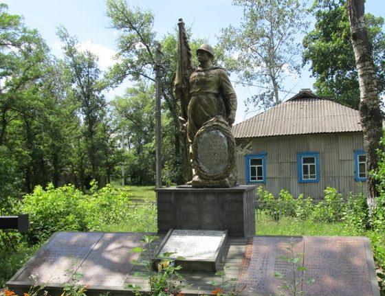 с. Воропаев Вышгородского р-на. Памятник в центре села, установленный погибшим односельчанам.