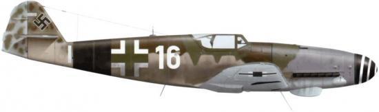 Tullis Tom. Истребитель Bf-109 К-4.