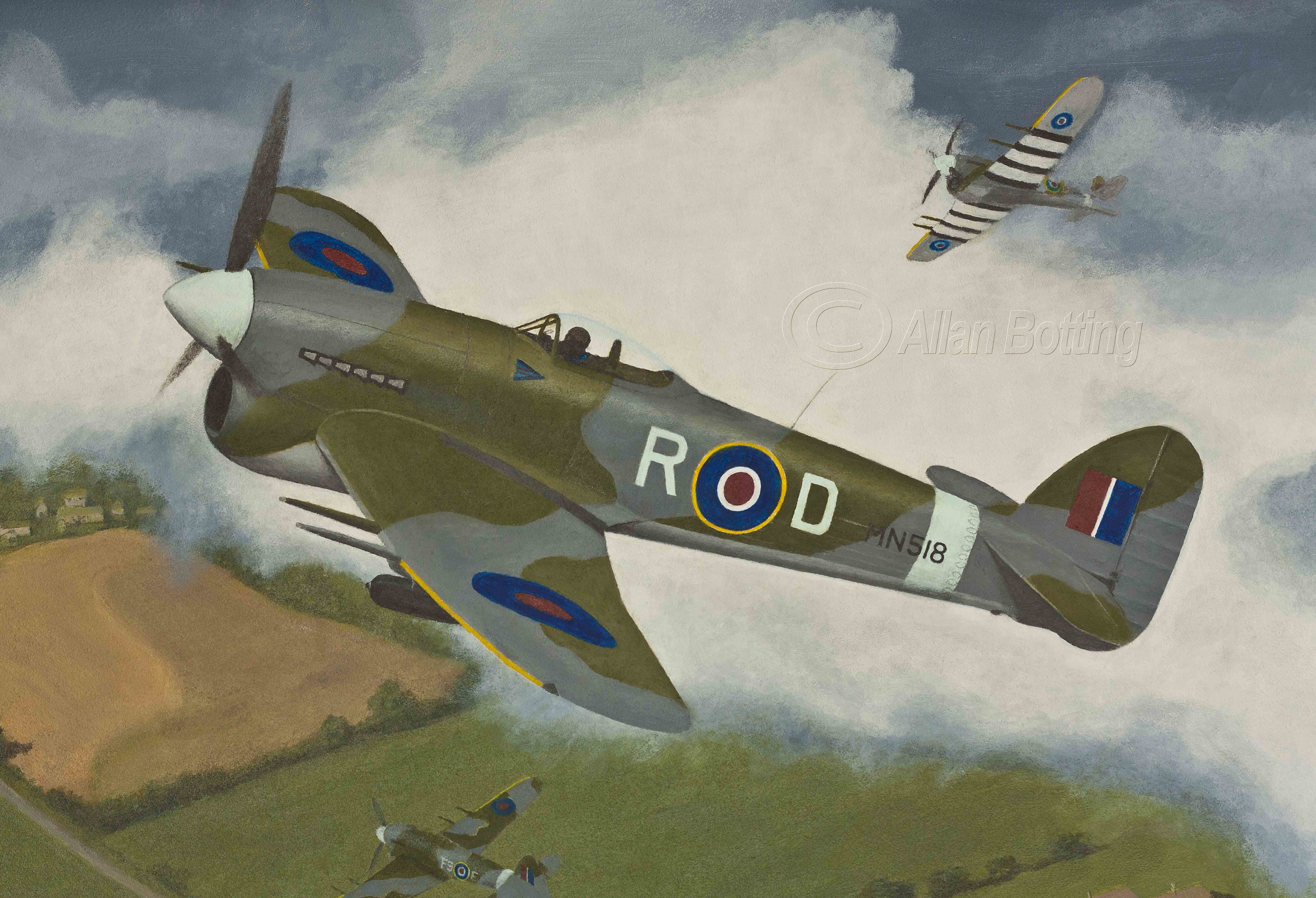 Botting Allan. Истребитель Hawker Typhoon Mk.1B.