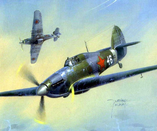 Wrobel Jaroslaw. Истребитель Hawker Harricane.