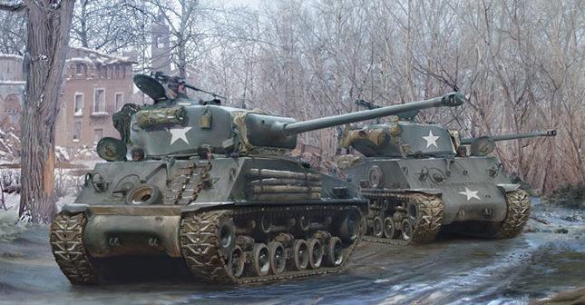Karvon Mark. Танк M-4A3E8 Sherman.