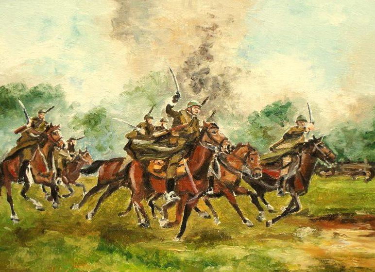 Karcza Łukasz. Кавалерийская атака.