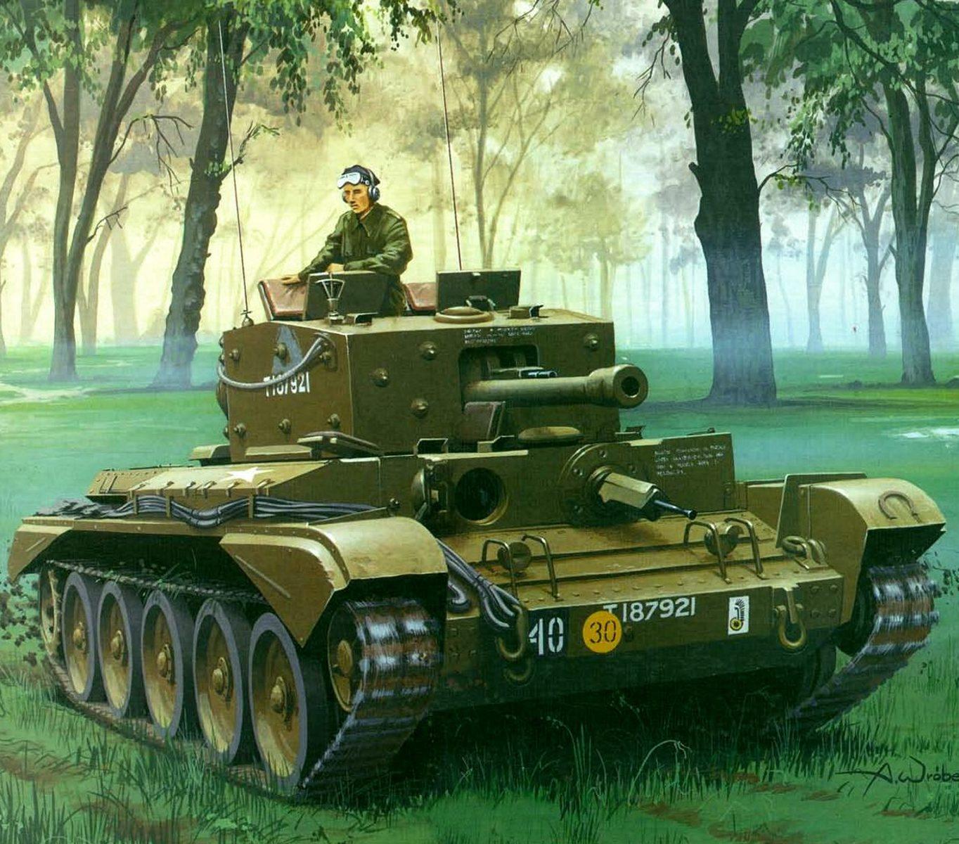 Wróbel Arkadiusz. Танк A-27M Cromwell Mk.IV.