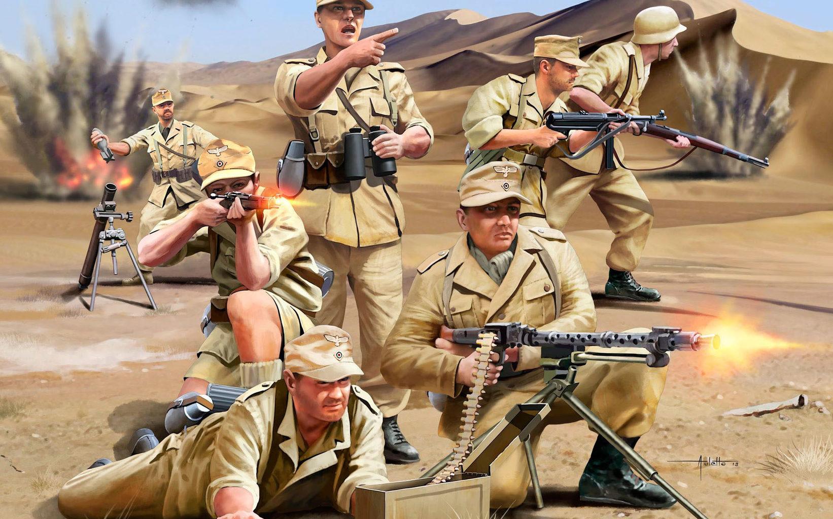 Auletta Vincenzo. Немецкая пехота африканского корпуса.