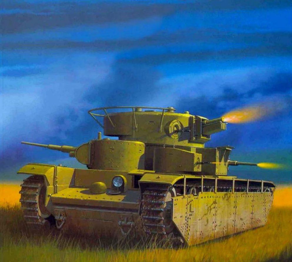 Wróbel Arkadiusz. Тяжелый танк Т-35.