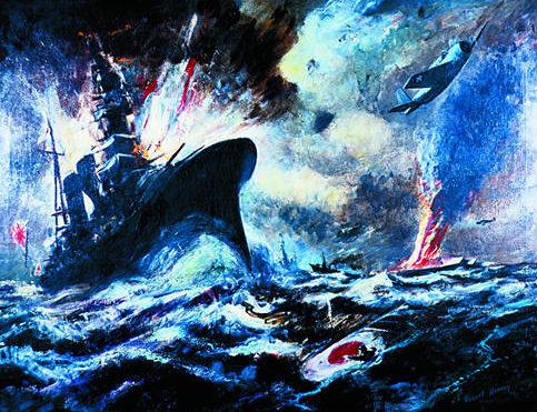 Benney Robert. Морской бой.