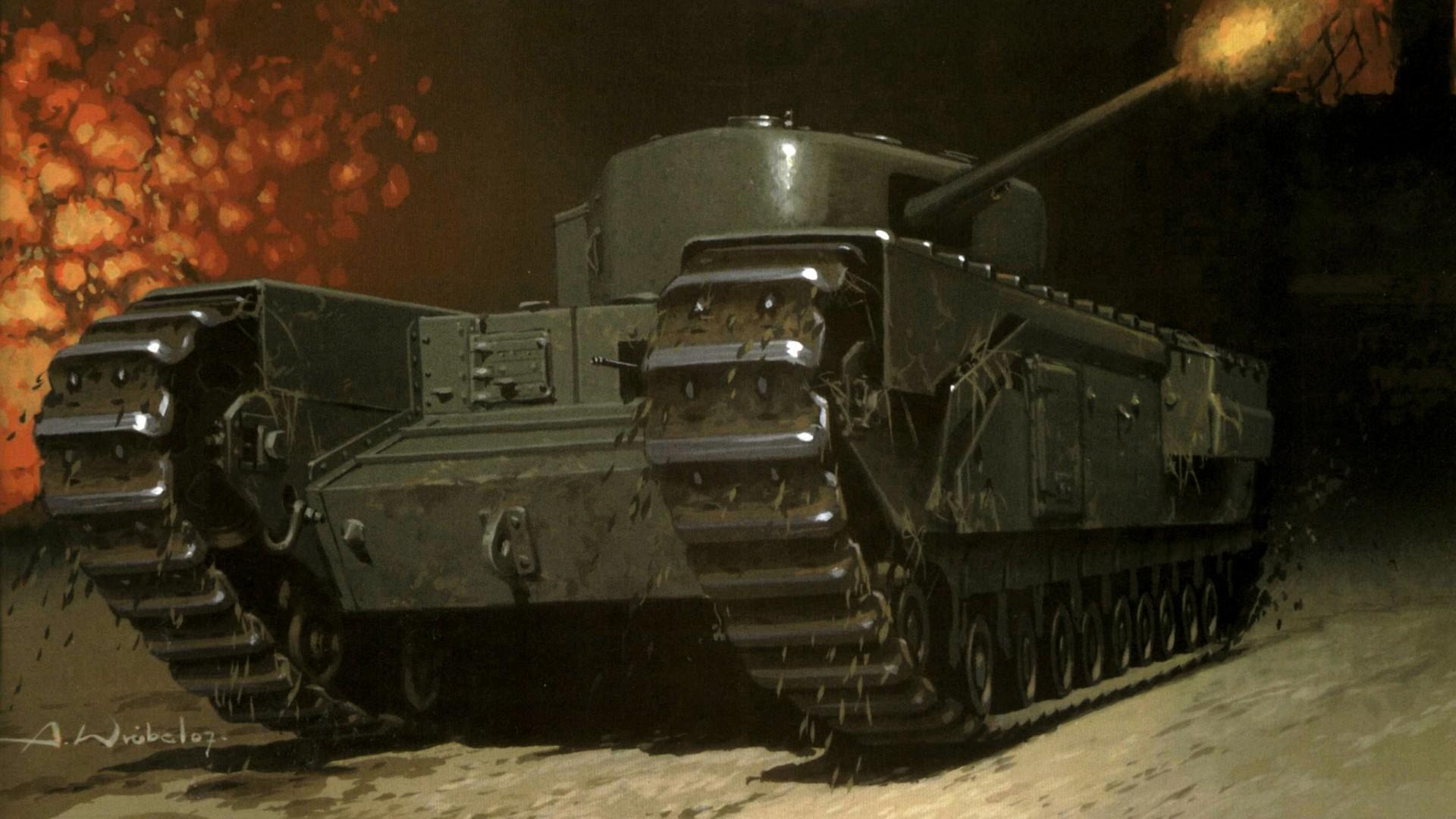 Wróbel Arkadiusz. Танк Churchill.