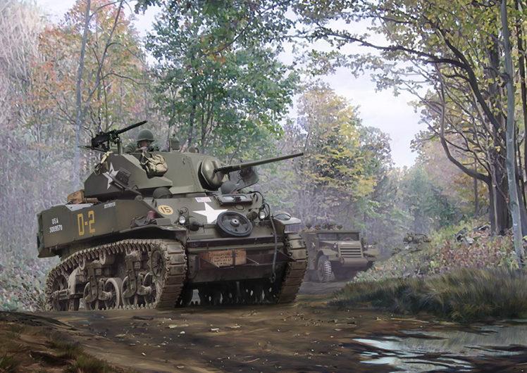 Karvon Mark. Танк M5A1 Stuart.