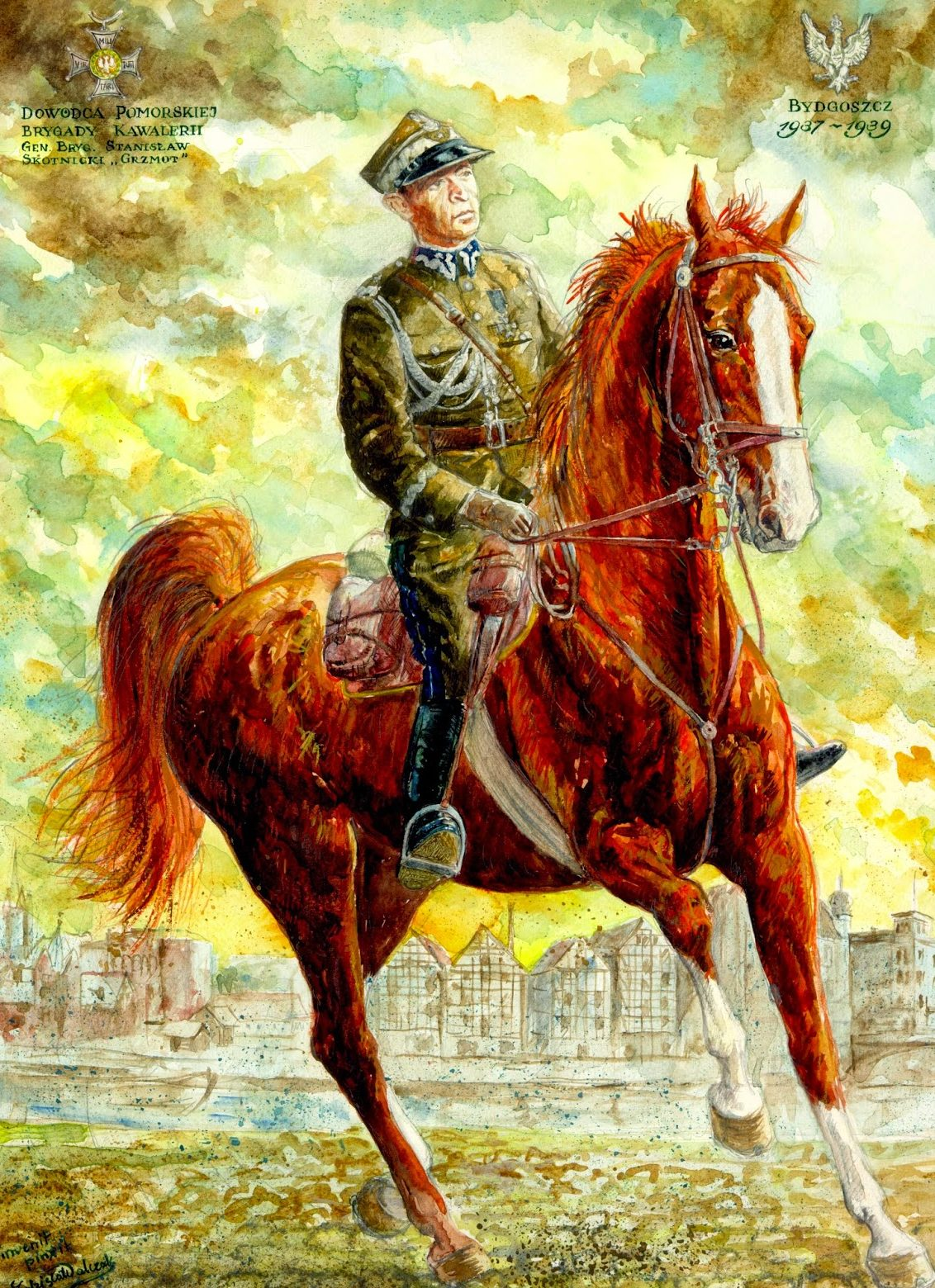Walczak Zdzisław. Польские кавалеристы.