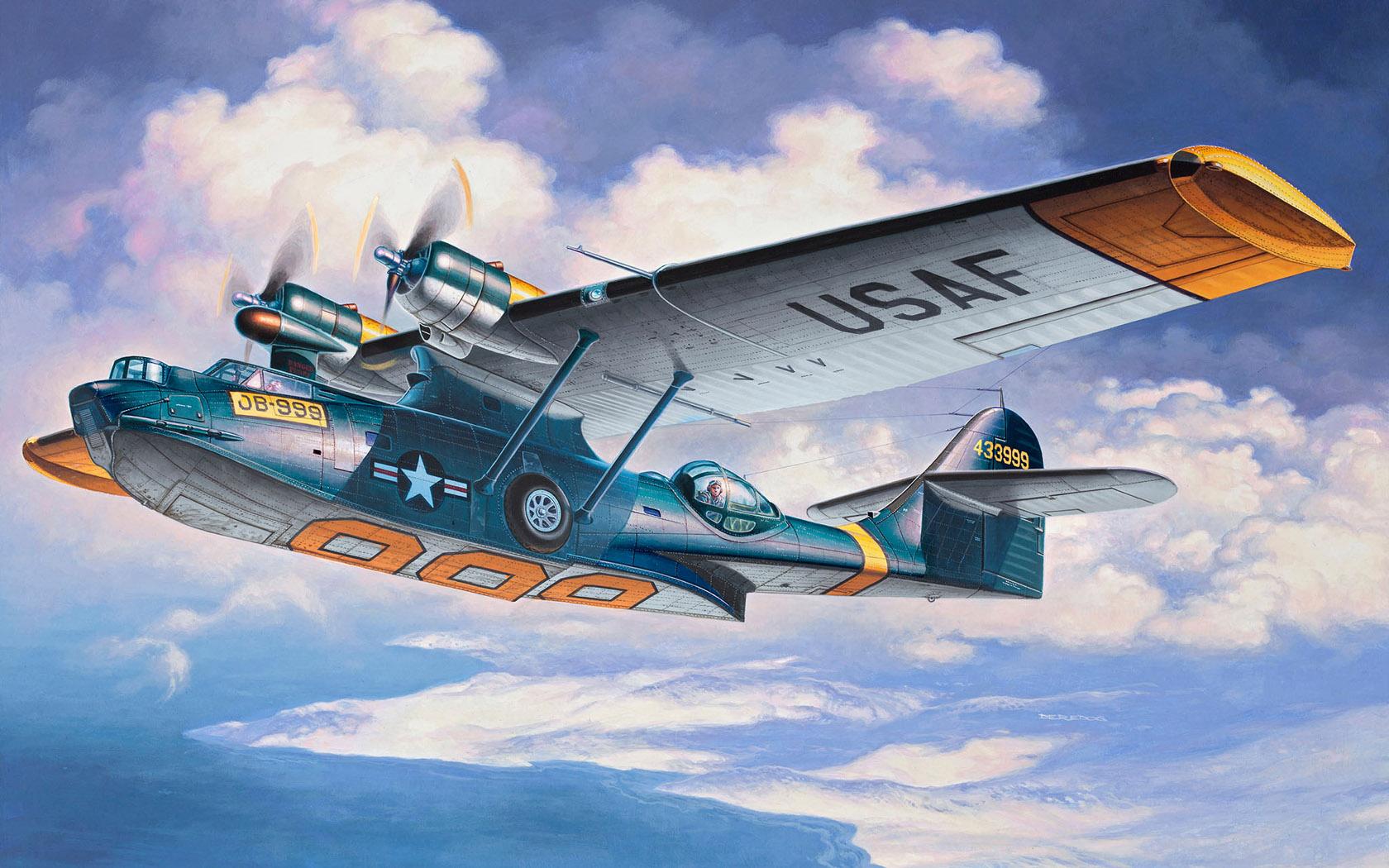 Deredos Andrzej. Морской бомбардировщик Consolidated PBY-5А Catalina.