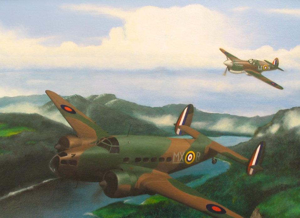 Botting Allan. Военно-транспортный самолет Lockheed Hudson, Mk.I.