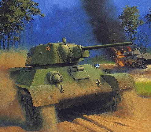 Wróbel Arkadiusz. Танк Т-34-76.