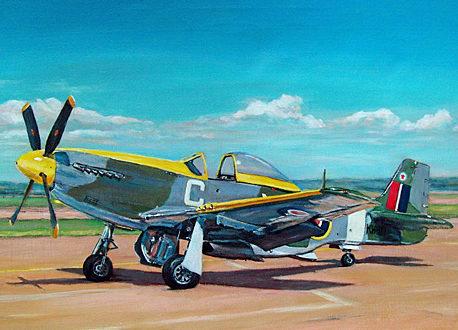 Boyd Len. Истребитель Mustang Mk.IV.