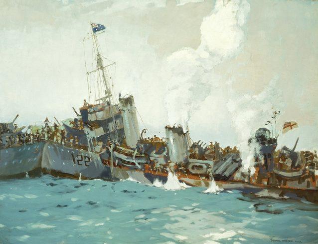 Norton Frank. Гибель эсминца «Waterhen».